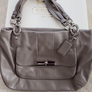Coach taupe shoulder bag